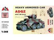 Heavy Armored Car ADGZ with T-26 turret( field mod)- 1:35e - AMG - AMG35506