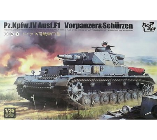 Pz.Kpfw.IV Ausf.F1 3-in-1 - 1:35e - Border Model - BT003