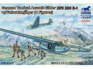 German Tactical Assault Glider DFS 230 B-1 w/Fallschirmjager (4 Figures)- 1:35e - Bronco Models - CB35039