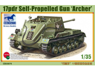 17pdr Self-Propelled Gun Archer - 1:35e - Bronco Models - CB35074