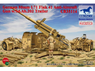German 8.8cm L71 Flak41 Anti-Aircraft Gun w/Sd.Ah.202 Trailer- 1:35e - Bronco Models - CB35114