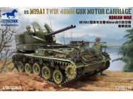 US M19A1 Twin 400mm Gun Motor Carriage Korean War- 1:35e - Bronco Models - CB35148
