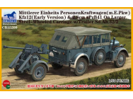 Mittlerer Einheits PersonenKraftwagen (m.E.PKW)Kfz12(Early Version)&2,8cmSPz- 1:35e - Bronco Models - CB35209