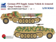 German sWS Supply Ammo Vehicle & Armored Cargo Version (2 in 1)- 1:35e - Bronco Models - CB35214