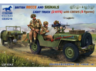BRITISH RECCE AND SIGNALS LIGHT TRUCK (2 KITS ) with CREWS - 1:35e - Bronco Models - CB35218