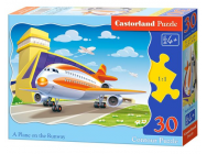 A Plane on the Runway, Puzzle 30 Teile - e - Castorland - B-03587-1