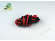 Fil silicone AWG12 - 3,58mm² rouge+noir A2PRO - A2P-17120