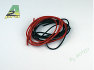 Fil silicone AWG20 - 0,5mm² rouge+noir A2PRO - A2P-17200