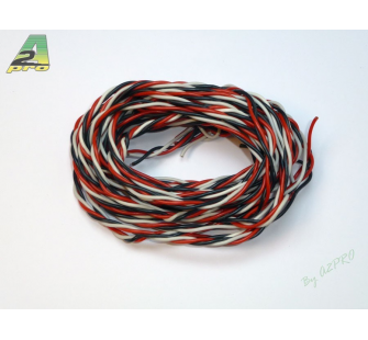 Cable Futaba silicone torsade AWG20 - 0,50mm² (5m) A2PRO - A2P-16059