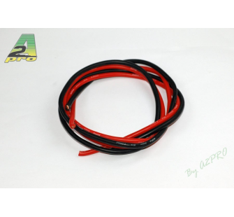 Fil silicone AWG8-6.03² Rouge + Noir (2x1m) A2PRO - A2P-17080