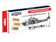 Red Line Set (8 pcs) US Marine Corps Helicopters Paint Set - e - HATAKA - HTK-AS14