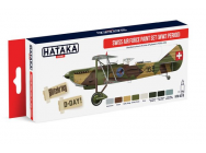 Red Line Set (8 pcs) Swiss Air Force Paint Set (WW2 period) - e - HATAKA - HTK-AS15