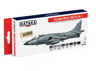 Red Line Set (8 pcs) Falklands Conflict paint set vol. 2 - e - HATAKA - HTK-AS28
