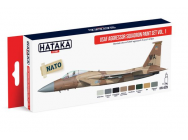 Red Line Set (8 pcs) USAF Aggressor Squadron paint set vol. 1 - e - HATAKA - HTK-AS29