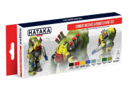 Red Line Set (8 pcs) Combat Mechas & Robots paint set - e - HATAKA - HTK-AS41