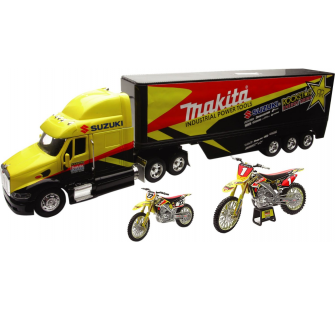 COFFRET ROCKSTAR MAKITA SUZUKI RACING TEAM TRUCK 1-32° + MOTO 1-12° + 1-18° CHAD REED - NRY-10115