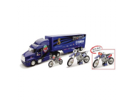 COFFRET JAMES STEWART YAMAHA L&M RACE TEAM TRUCK PETERBILT 1-32° + MOTO 1-12 + MOTO 1-18 ° - NRY-10165