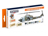 Orange Line Set(8 pcs) US Marine Corps Helicopters Paint Set - e - HATAKA - HTK-CS14