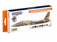 Orange Line Set(8 pcs) USAF Aggressor Squadron paint set vol. 1 - e - HATAKA - HTK-CS29