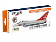 Orange Line Set(8 pcs) Modern Royal Air Force paint set vol. 1 - e - HATAKA - HTK-CS52