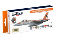 Orange Line Set(8 pcs) Israeli Air Force paint set (modern jets) - e - HATAKA - HTK-CS62