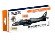 Orange Line Set(8 pcs) USMC AV-8 paint set (early schemes) - e - HATAKA - HTK-CS63