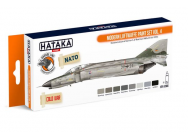 Orange Line Set(8 pcs) Modern Luftwaffe Paint Set Vol. 4 - e - HATAKA - HTK-CS66