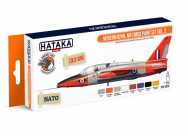 Orange Line Set(8 pcs) Modern Royal Air Force paint set vol. 3 - e - HATAKA - HTK-CS70