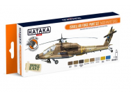 Orange Line Set(8 pcs) Israeli Air Force paint set (modern rotors) - e - HATAKA - HTK-CS71