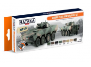 Orange Line Set(8 pcs) Modern Polish Army AFV paint set - e - HATAKA - HTK-CS72