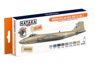 Orange Line Set(8 pcs) Modern Royal Air Force paint set vol. 2 - e - HATAKA - HTK-CS73