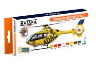 Orange Line Set(8 pcs) Air Ambulance (HEMS) paint set vol. 1 - e - HATAKA - HTK-CS76