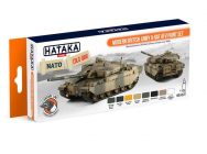 Orange Line Set(8 pcs) Modern British Army & RAF AFV paint set - e - HATAKA - HTK-CS77