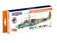 Orange Line Set(8 pcs) Russian AF Helicopters paint set vol. 1 - e - HATAKA - HTK-CS86