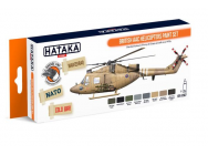 Orange Line Set(8 pcs) British AAC Helicopters paint set - e - HATAKA - HTK-CS87