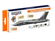 Orange Line Set(8 pcs) Modern Royal Air Force paint set vol. 5 - e - HATAKA - HTK-CS97