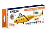 Orange Line Set(8 pcs) British SAR Service paint set vol. 1 - e - HATAKA - HTK-CS98