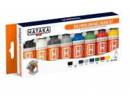 Orange Line Set(8 pcs) Scale modelling basic colours set - e - HATAKA - HTK-CS100