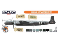 Orange Line Set (8 pcs) Mid-War Luftwaffe paint set - e - HATAKA - HTK-CS110