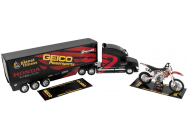 COFFRET KEVIN WINDHAM TEAM GEIKO -HONDA RACE TEAM TRUCK  1-32° + MOTO 1-12° +  CASQUE 1-6°  - NRY-14265