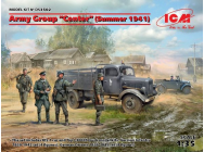 Army Group Center (Summer 1941)(Kfz1,Typ L3000S,German Infantry(4 figures)Ger.Drivers- 1:35e - ICM - DS3502