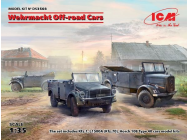 Wehrmacht Off-road Cars (Kfz1,Horch 108 Typ 40, L1500A)- 1:35e - ICM - DS3503