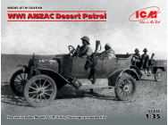WWI ANZAC Desert Patrol (Model T LCP, Utility, Touring) - 1:35e - ICM - DS3510