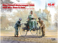 Benz Patent-Motorwagen 1886 with Mrs. Benz & Sons - 1:24e - ICM - 24041