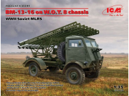 BM-13-16 on W.O.T. 8 chassis, WWII Soviet MLRS - 1:35e - ICM - 35591