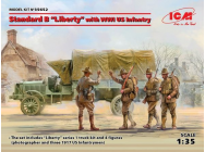 Standard B Liberty  with WWI US Infantry Limited- 1:35e - ICM - 35652