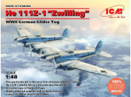 He 111Z-1 Zwilling, WWII German Glider Tug - 1:48e - ICM - 48260
