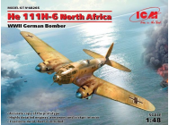 He 111H-6 North Africa,WWII German Bombe Limited- 1:48e - ICM - 48265