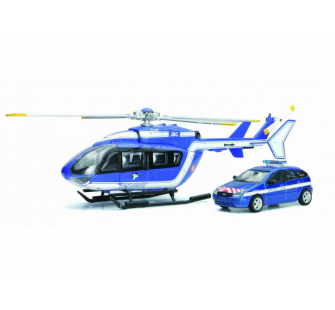 COFFRET GENDARMERIE HELICO EC 145 + FORD FOCUS 1-43° - NRY-25965SS