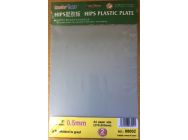 HIPS 0,5mm plastic sheet(210mmx300mmx2pc - e - Master Tools - 8002